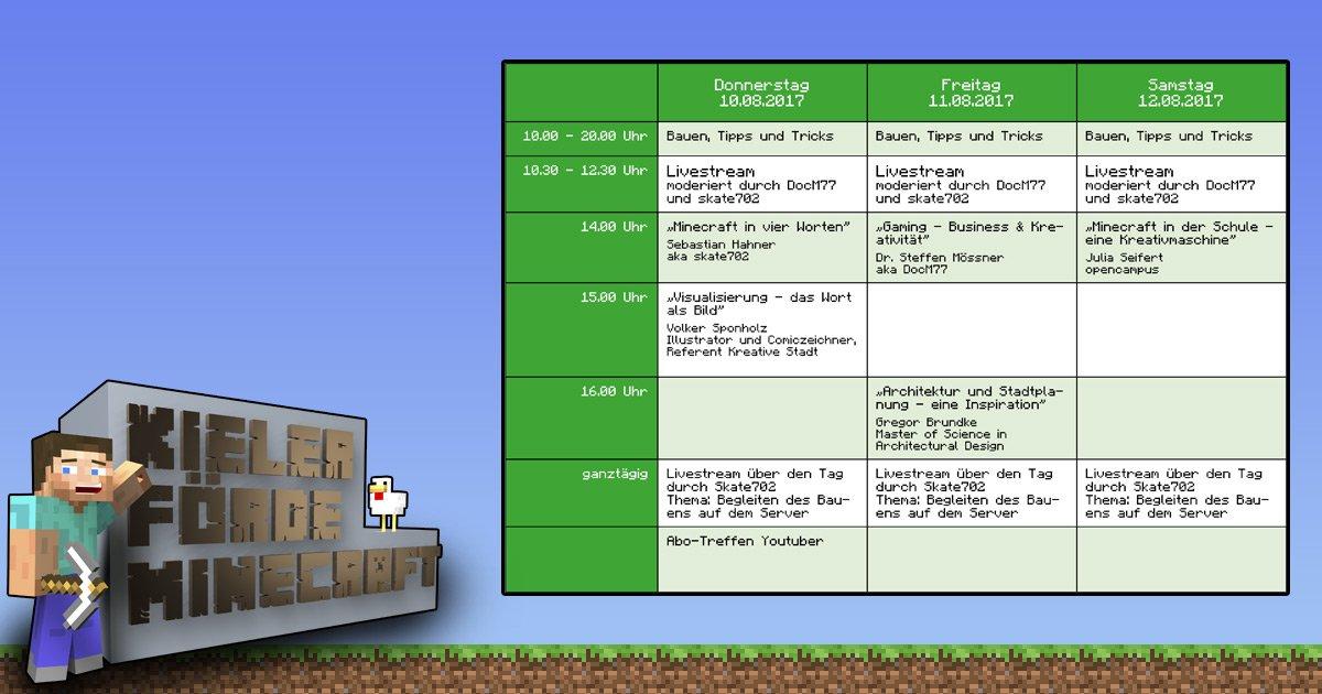 Kieler Förde Minecraft Camp KiWi Kieler Wirtschaftsförderung - Minecraft spieler suchen